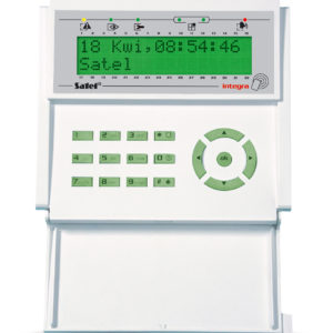Satel INT-KLCDR-GR manipulator LCD z czytnikiem kart zbliżeniowych